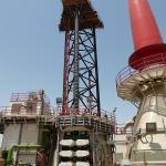 20140611 scaffolding built in top of legs